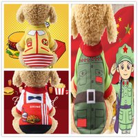 Wholesale mai for sale - Group buy Fashion Dog Colorful Pet Clothes Poromeric For Small Baby Pet Easy Washing Autumn and winter new K grandfather Mai Dashu Xiaohongjun clothes