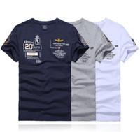 mens butik toptan satış-Erkek Kısa kollu% 100% pamuk Butik Nakış T-Shirt Aeronautica Militare Kısa Kollu Rahat Erkek Tee gömlek # 609