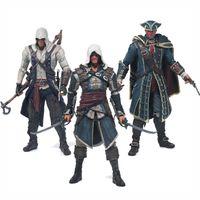 ingrosso figura della lama-Spedizione gratuita Assassins Creed 4 Black Flag Connor Haytham Kenway Edward Kenway Pvc Action Figure Giocattoli Hidden Blade