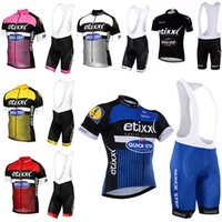 Wholesale quick step bib - Crossrider team quick-step cycling jersey bike wear short sleeve bib SET MTB Ropa Ciclismo PRO cycling clothing mens bicycle Maillot Culotte