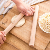 ingrosso strumenti per pasta-Rotolo in legno naturale decorazione torta fondente attrezzo da cucina durevole antiaderente pasta rullo alta qualità 0 74bx B