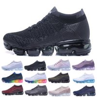 Wholesale out walking - 2018 New Vapormax Running Shoes Men Women Outdoor Run Shoes Vapor Black White Sport Shock Jogging Walking Hiking Sports Athletic Sneakers