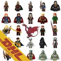 Wholesale Toy Lord Rings - Wholesale Hobbit Mix Lot The Lord of Ring Minifig Hobbit Minifig 24 Types The Lord of Ring Figures Hobbit Mini Building Blocks Figure Toy