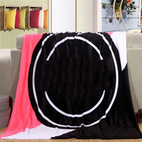 Wholesale Wholesale Pink Beach Towels - lOVE PINK Blanket Soft Blankets Manta Size 130cm*150cm Carpet Towel Sofa Sleep Nap Plane Beach Air Travel Sitting Room for Spring Autumn