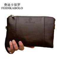 Wholesale Leather Business Card Wallet Price - FEIDIKABO Luxury Wallets Handy Bags Male Leather Purse Men's Clutch Black Brown Business Carteras Mujer Wallets Men Dollar Price