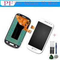 сенсорный дисплей для галактики samsung s3 оптовых-Оригинальный высокое качество для Samsung Galaxy S3 Mini I8190 ЖК-дисплей сенсорный экран с дигитайзер полная сборка + бесплатный инструмент