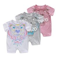 модная одежда для малышей оптовых-Новорожденных девочек комбинезон летняя мода с коротким рукавом baby boy одежда малыша Roupas одежда новорожденный Детская одежда младенческой комбинезон животных