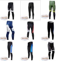 Wholesale giant cycling thermal clothing - FANTINI GIANT team Winter Thermal Fleece pants 2018 new Polyester Quick-Dry Cycle Clothes Mountain bike Wear gel pad C3104