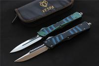 Wholesale VESPA Tactical Combat Troodon Knife D2 blade Aluminum TC4 G10 Handle hunting knives Survival knife outdoor EDC Tools pocket camping knives