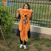 ayı oyuncaklar büyük fiyat toptan satış-Teddy Bear Cilt 100 cm Büyük Teddy Bear Cilt Bearskin Coat Peluş Oyuncaklar Brinquedos Fabrika Toptan Fiyat
