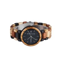 Wholesale solar watches online - Wood Watch men Bewell zabra wood male s watches retro desigh best gift for boy