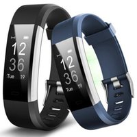 Wholesale pulse ring - new id115plus HR smart watch sport bluetooth step Heart rate monitoring bracelet wrists recognition fitness tracker sports ring