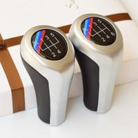 ingrosso attrezzi modificati-Pomello cambio in pelle + ABS modificato 5/6 velocità per BMW 1 3 5 6 Serie E90 E91 E92 F30 Z5 F20 M3 M4