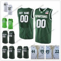 Wholesale Green Bridges - Custom Michigan State Spartans College Basketball White Green Personalized Stitched Any Name Number #22 Miles Bridges 44 Nick Ward Jerseys