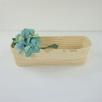 Wholesale fruit basket bamboo resale online - Handle Weaving Mulit Size Fruit Bamboo Tray Storage Rattan Basket Hamper For Bread Cake Plate Baking Pastry Tools xh5 Y
