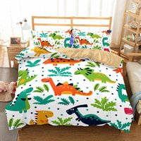 Wholesale Dinosaur Pillows - Q Edition Dinosaur Pattern Printed Bedding Sets All Sizes Pillow Case Quilt Cover Duvet Cover No Filler
