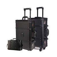 ingrosso valigia valigia viaggio valigia-Bagaglio da 24 pollici Vintage Bag Trolley da 20 pollici Vintage Bag Trunk Bag