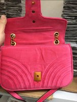 Wholesale cell slides - AAAAA Quality 446744 22cm Marmont Mini Chevron Velvet Shoulder Bag Sliding chain strap Antique hardware Silk Lining with Dust Bag