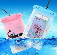 Wholesale Mobile Phone Pouches Cartoon - Cartoon transparent PVC mobile phone waterproof bag Swimming outdoor marine sports phone waterproof device