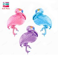 Wholesale Large Inflatable Animals - Large bird balloons Flamingo foil balloons children classic toys Inflatable helium balloon birthday wedding balls party supplies