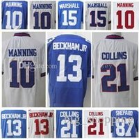 Wholesale Eli Manning Jersey Xxl - 10 Eli Manning 13 Odell Beckham Jr Jersey 21 Landon Collins 15 Brandon Marshall 87 Sterling Shepard Jerseys Embroidery and 100% Stitched