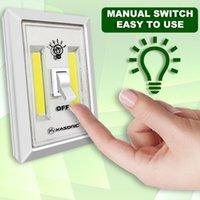 ingrosso luci a parete portatili senza fili-Portatile a luce bianca a batteria da 200 lumen a luce bianca per interruttori a parete a LED COB LED Alta qualità