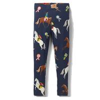 vêtements fille serré enfant achat en gros de-Animaux Appliqued Bébé Fille Leggings Fleurs Imprimé Fille Pantalon 2019 Gros Enfants Vêtements Élégant Collants 2-7 T