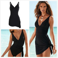 Wholesale Sexy Swimwear For Plus Size - Swimwear Sexy Plus Size One Piece Swimsuit Dress Bathing Suits Swimming Suit for Women Swim dress