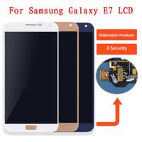 e7 display venda por atacado-Para samsung e7 e700 e700f e700m e700h display lcd touch screen digitador assembléia para galaxy e7 display e700 tela, brilho ajustável