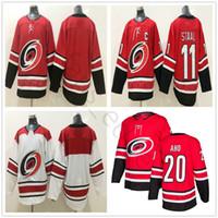 7f3451f48 2018 neue Art Carolina Hurricanes Hockey Trikots 20 Sebastian Aho  Startseite Red Blank 11 Staal   53 Jeff Skinner genähte Jersey Kostenloser  Versand