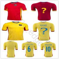 nombre de camiseta de fútbol personalizado al por mayor-Rumania Soccer Jersey 6 CHIRICHES 10 MAXIM Personalizado Cualquier Nombre Cualquier Número Equipo Red Road Lejos Camisa de Fútbol Amarilla Uniforme Camiseta