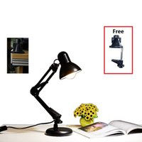Wholesale Classical Study Table - Classical table lamp Can be replaced E27 Bulbs lamp study Foldable free rotation Metal desk lamp simple hotel decorative indoor lighting