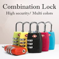 Wholesale combination travel suitcase luggage padlock lock - TSA Digit Code Combination Lock Resettable Travel Luggage Padlock Suitcase High Security Multi colors optional NNA442