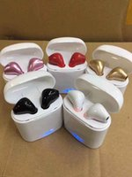 Wholesale new bluetooth earbuds resale online - NEW I7S TWS Wireless Bluetooth Earbuds Twins Headphones Headset with Charger Box for Iphone X Plus Android Samsung Sony Earphones
