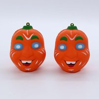 Wholesale halloween jokes toy resale online - Practical Jokes Simulation cm Pumpkin Carline Squishy Slow Rising Halloween Squeeze Decompression Kids Toy cartoon Novelty toys