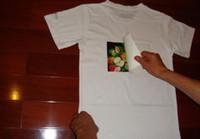 isı transferi tül baskısı toptan satış-10 Levhalar A4 Demir On Mürekkep Püskürtmeli Baskı Isı Transferi Kağıt Için Işık Kumaş T-Shirt Beyaz Işık Renkli Kumaşlar Bez Textil