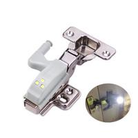 sensor de luz 12v venda por atacado-0.3 W 12 V Inteligente Sensor de Dobradiça Luz Roupeiro Leve Quarto Luz Da Noite Quarto Armário de Cozinha Closet Lâmpada kastverlichting Lamparas