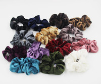 Wholesale Velvet Hair Accessories - Velvet Elastic Hair Scrunchie Scrunchy Hairbands Head Band Ponytail Holder Girls princess accessories Child Hair Accessories A00159