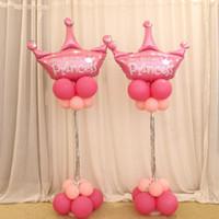 hayat sopa toptan satış-Noel 2 Takım 150 cm Balon Sütun Kaidesi / Sopa / Plastik Direkleri + 15 Klipler Balon Kemer Düğün Dekorasyon Parti Malzemeleri Bahçe Dekorasyon