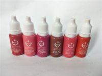 ingrosso biotouch tatuaggio pigmenti-6 pz biotouch tattoo ink Kit trucco permanente micro pigmento 15ml per labbra rosa rosso rosa colori misti