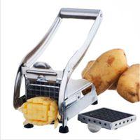 ingrosso tagliatrice a fetta-Fry Cutter Potato Cutter Potato Chip in acciaio inox Gadget Cetriolo Tagliatrice fetta di taglio Chopper Tools