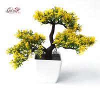 ingrosso piante di pino-Pini d'accoglienza fiori artificiali albero piante artificiali piante verdi bonsai per decorativi decorativi interni ufficio fiori