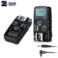 camaras 6d al por mayor-YouPro Pro-7 Temporizador de disparador inalámbrico y disparador de flash con N3 2.5mm PC Sync / Shutter Cable para cámaras 7D 7DII 6D 5DII
