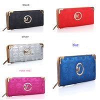 Ladies Luxury Wallet Serie M Famous Brand Purse Single Zipper Multi Tier Borsa in pelle PU Portafogli lunghi per le donne Borse moda copertura Hot