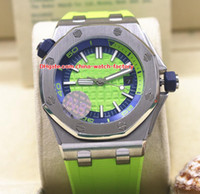 Wholesale green blue sapphire - 5 Color Luxury High Quality Watch JH N8 Factory 42mm Diver 15703 15710 15710ST.OO.A038CA.01 Asia Mechanical Automatic Mens Watch Watches