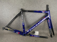 ingrosso bici nera blu-Dark Blue-Black T1000 3K / UD bici da strada C60 telai in carbonio con XS / S / M / L / XL BB386 spedizione gratuita