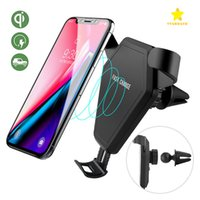 Wholesale air wireless - Wireless Charger Fast Charger Car Holder Mount Air Vent Stand Holder for Samsung Galaxy S8 Plus iPhone with Retail Package