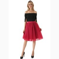 9a4724d71c Wholesale plus size midi tulle skirt for sale - 7 Layered Tulle Skirts  Womens High Waist