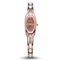 Wholesale Tungsten Gold Watch - Women sapphire mirror watch DOM watches New fashion row wear-resisting tungsten Watch Bracelet Watch W-733 Free shipping