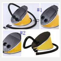 Wholesale pump foot - Small Pad Foot Scale Compress Swimming Ring Pump Feet Step Inflatable Cylinder Portable Feet Tread Swim Inflatables LJJM28